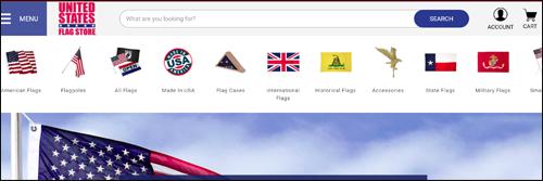 horizontal search box us flag